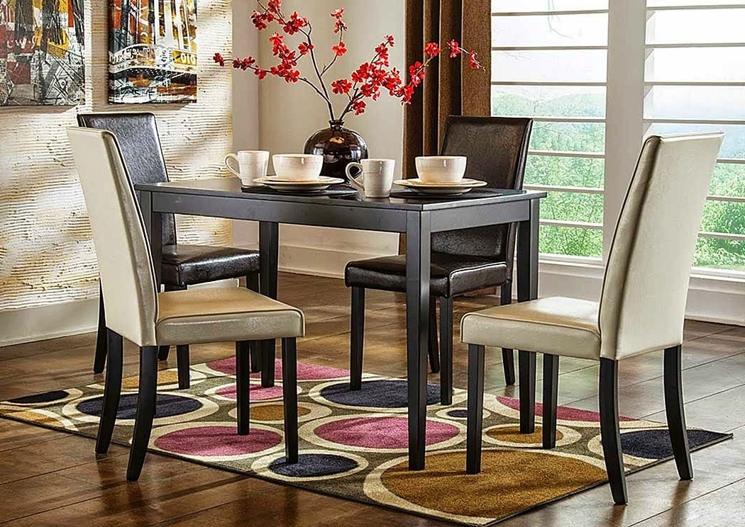 Rectangular Dining Tables Sets With Regard To 2018 Audrey's Place Furniture Kimonte Rectangular Dining Table W/2 Dark (View 17 of 20)