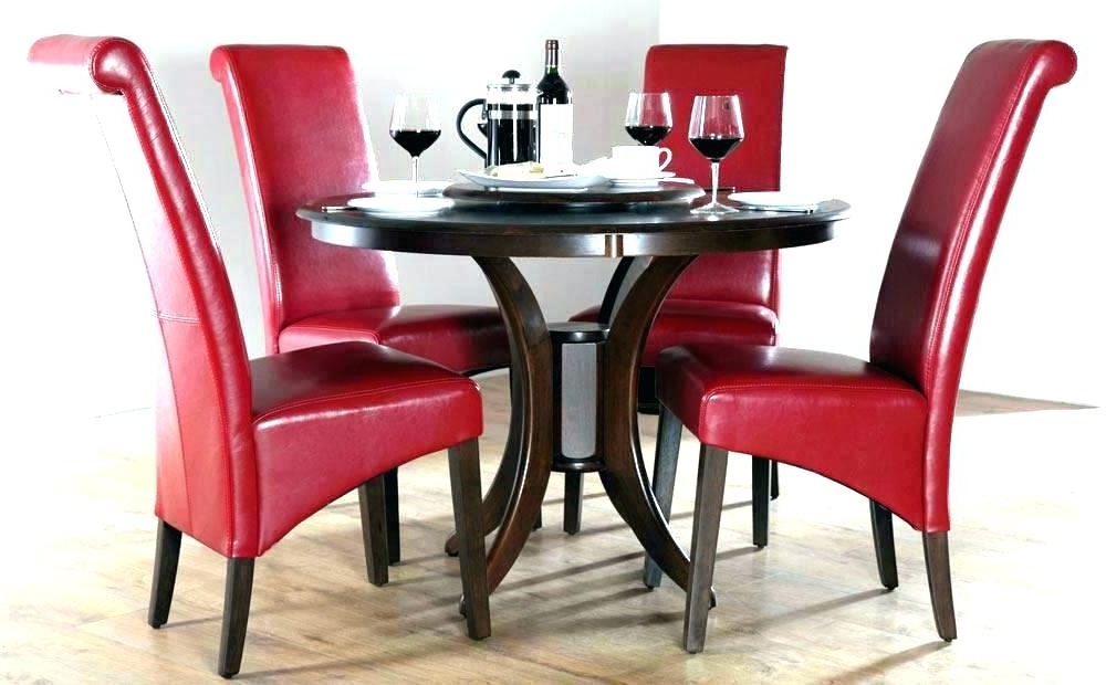 Red And Black Dining Room Sets Fantastic Red Dining Table Set Chairs Regarding Recent Red Dining Table Sets (View 9 of 20)