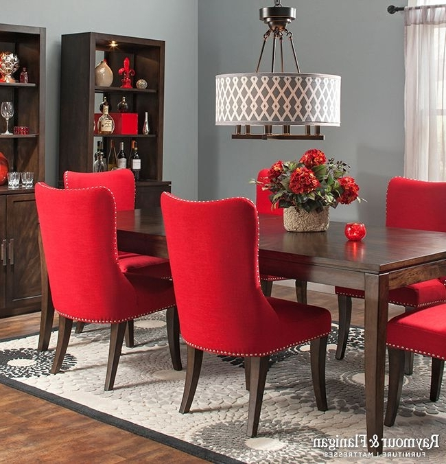 Red Dining Chairs Inside Fashionable Red Dining Chairs For Your Dining Rooms – Home Decor Ideas (View 13 of 20)
