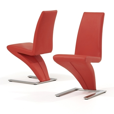 Red Dining Chairs Inside Popular Harvey Red Dining Chairs (Pair) – Robson Furniture (Gallery 16 of 20)