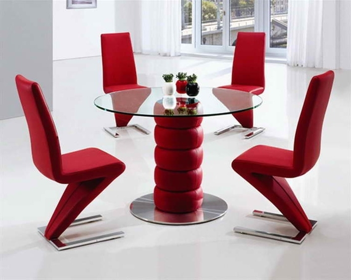 Red Dining Table Sets Intended For Preferred  (View 12 of 20)