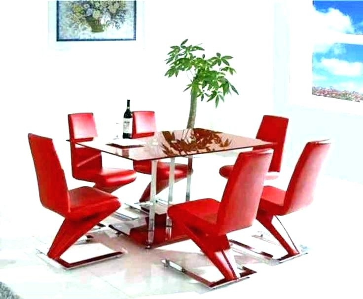 Red Dining Table Sets Pertaining To Well Known Red Dining Table And Chairs Dining Room Chair Red Dining Table Set (View 14 of 20)