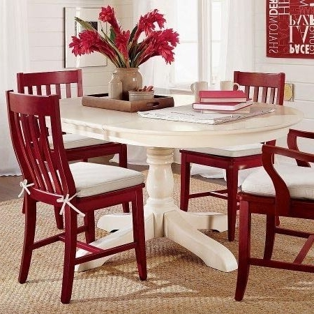 Red Dining Tables And Chairs For Favorite Paint Dining Table And Chairs With Rust Oleum 2X Cranberry (View 5 of 20)