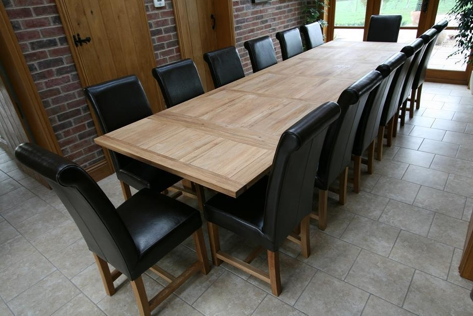 Refectory Oak Dining Table (Gallery 9 of 20)