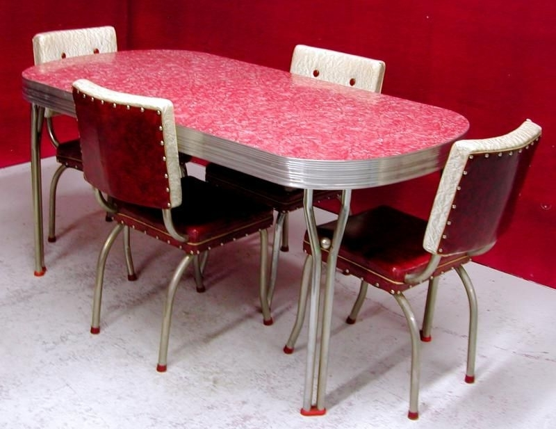 Retro Dining Tables Throughout Most Current Chrome And Formica Dining Sets (View 18 of 20)