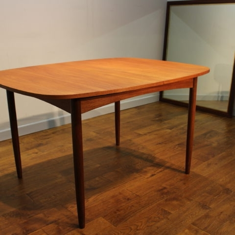 Retro Extending Dining Tables Intended For Widely Used Scarce G Plan 1960S Teak Extending Dining Table With Removeable Legs (View 14 of 20)