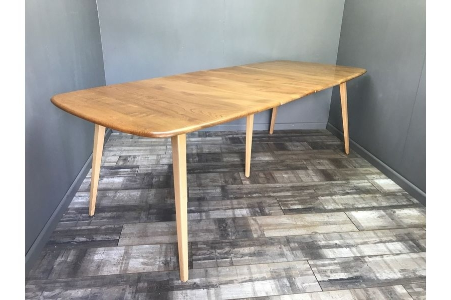 Retro Extending Dining Tables Regarding Most Recently Released Stunning Ercol Grand Windsor Extending Dining Table Vintage Retro (View 15 of 20)