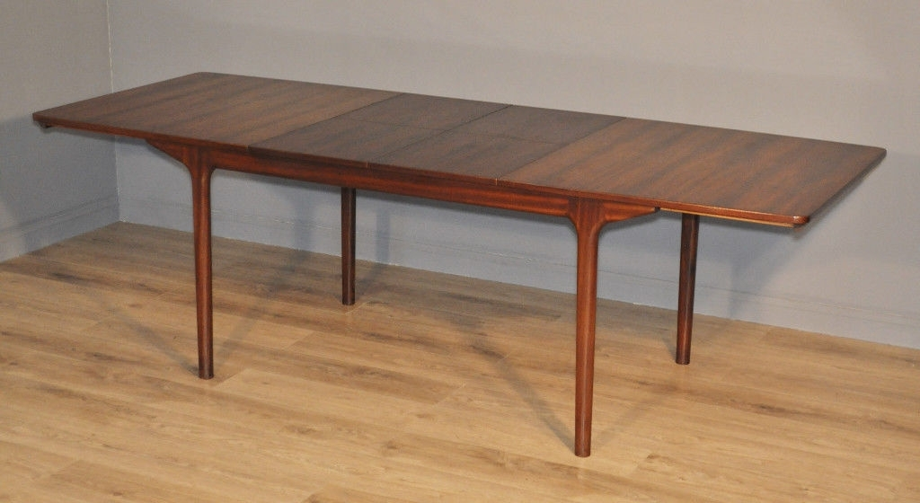 Retro Extending Dining Tables With Regard To Recent Attractive Large Vintage Retro 60/70's Mcintosh Rosewood Extending (View 16 of 20)