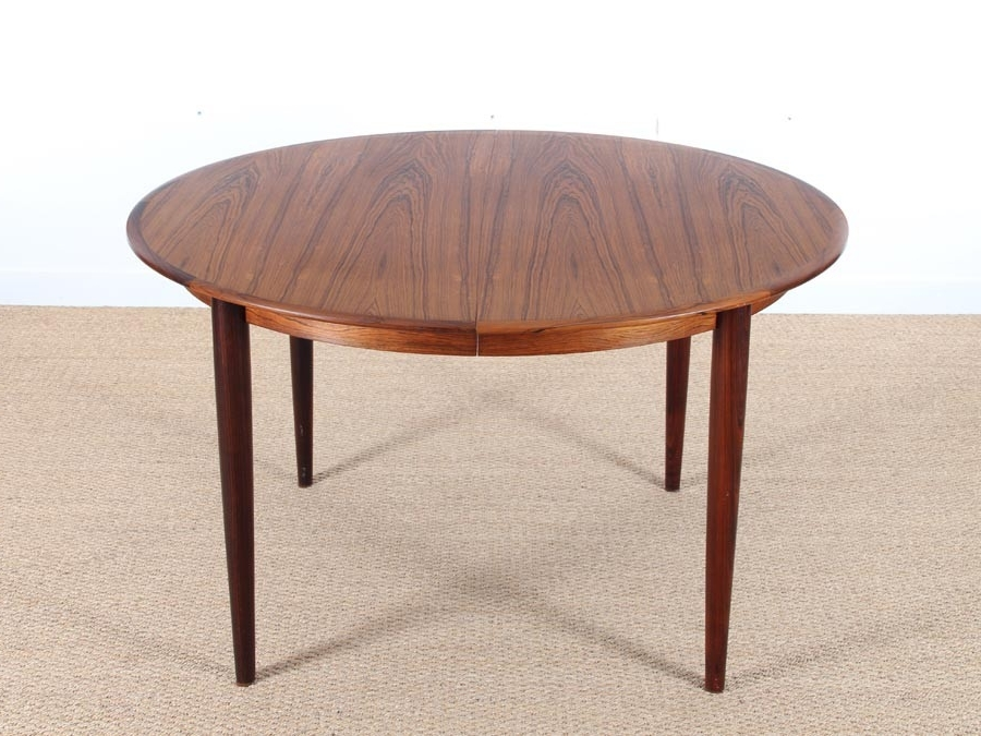 Rio Dining Tables Throughout Well Liked Mid Century Modern Scandinavian Dining Table In Rio Rosewood 4/ (View 13 of 20)