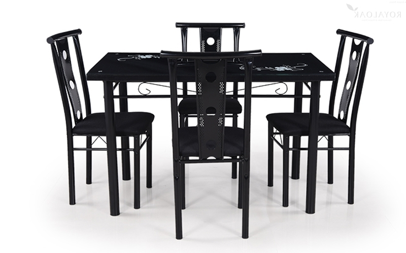 Rio Dining Tables With Famous Buy Royaloak Rio 4 Seater Dining Set With Tempered Glass Top (Gallery 12 of 20)
