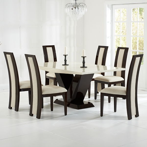 Riviera Brown High Gloss Dining Chairs Pair – Robson Furniture In Trendy Cream Gloss Dining Tables And Chairs (View 14 of 20)