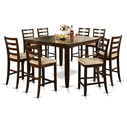 Rocco 7 Piece Extension Dining Sets With Preferred Amazon: East West Furniture Fair9 Cap C 9 Piece Counter Height (View 13 of 20)