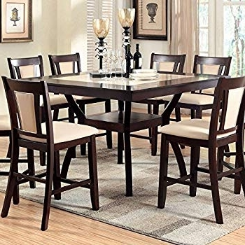 Rocco 9 Piece Extension Counter Sets Pertaining To Most Up To Date Amazon: East West Furniture Fair9 Cap C 9 Piece Counter Height (Gallery 20 of 20)