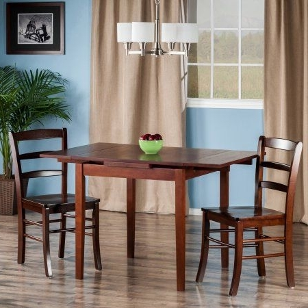 Rocco 9 Piece Extension Counter Sets Within Fashionable Pulman 3 Pc Set Extension Table 2 Ladder Back Chairs, Brown (Gallery 12 of 20)