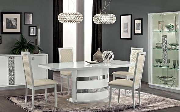 Roma Dining Tables And Chairs Sets Within Latest Roma White Table Roma Esf Furniture Dining Table Sets At Comfyco (View 17 of 20)