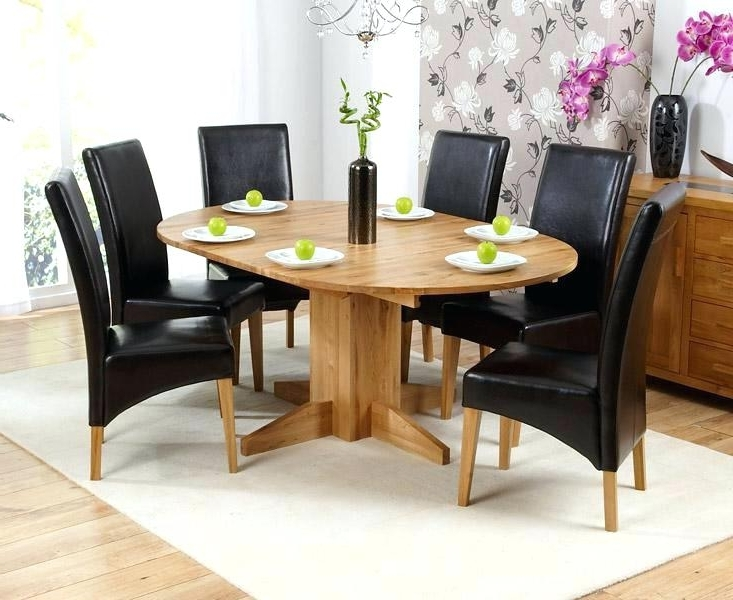 Round 6 Person Dining Tables In Most Up To Date Oak Round Dining Table 6 Leather Chairs Ghost For Round Dining Table (View 13 of 20)