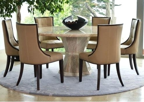 Round 6 Person Dining Tables With Regard To Most Up To Date Round Dining Room Tables For 6 – Love Works (View 16 of 20)