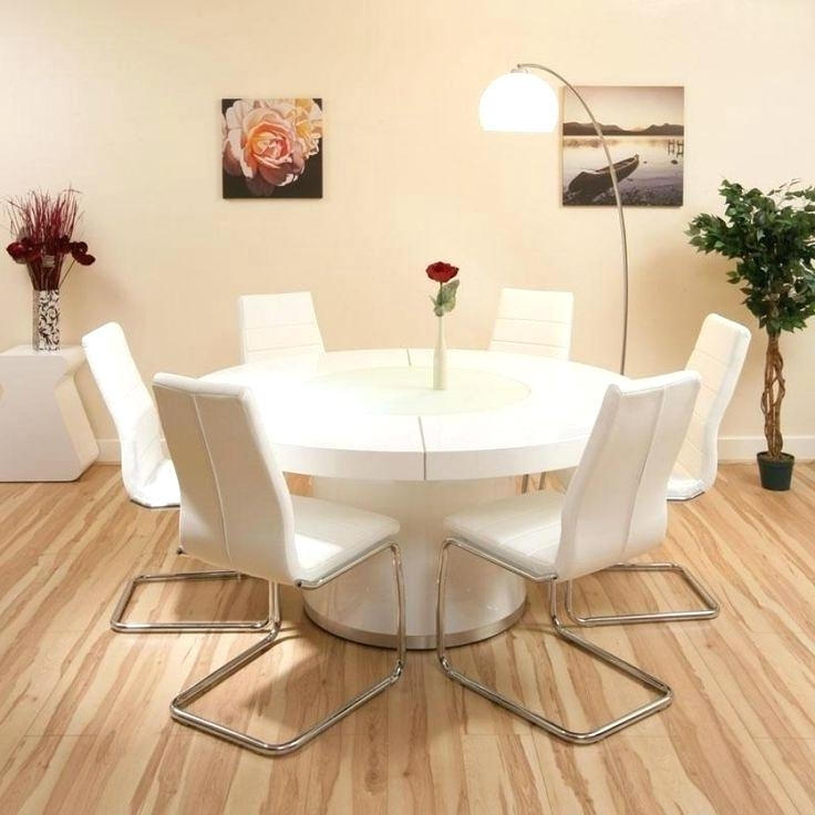 Round 6 Seater Dining Tables With Regard To Preferred Large Round Dining Table Seats 6 Round Dining Table Fitted Apron (View 6 of 20)