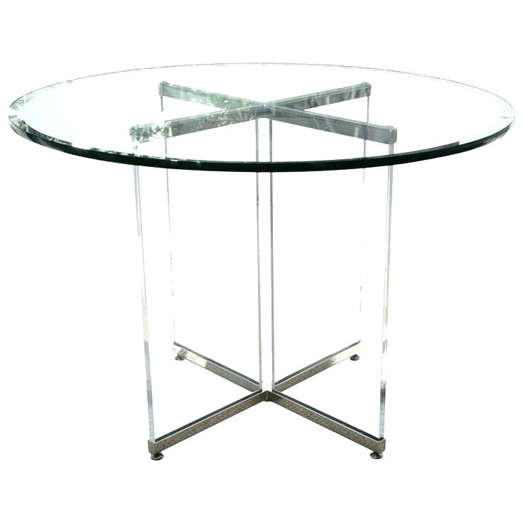 Round Acrylic Table Clear Acrylic Chrome And Clear Glass Coffee Intended For Current Acrylic Round Dining Tables (View 19 of 20)