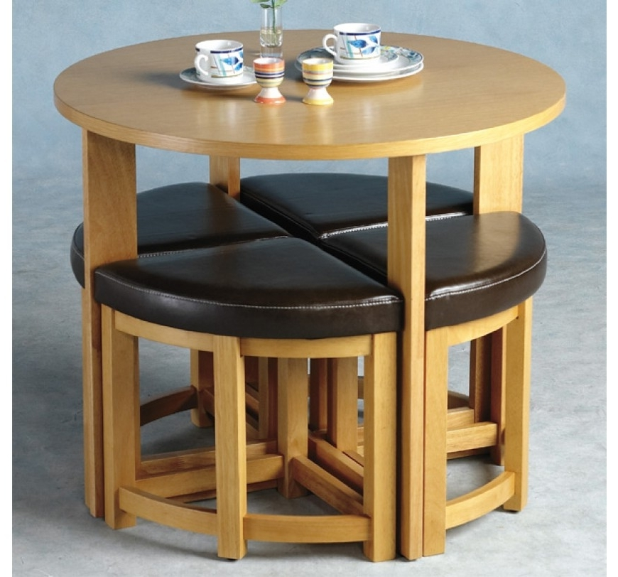 Round Dining Set In Most Up To Date Stowaway Dining Tables And Chairs (View 11 of 20)