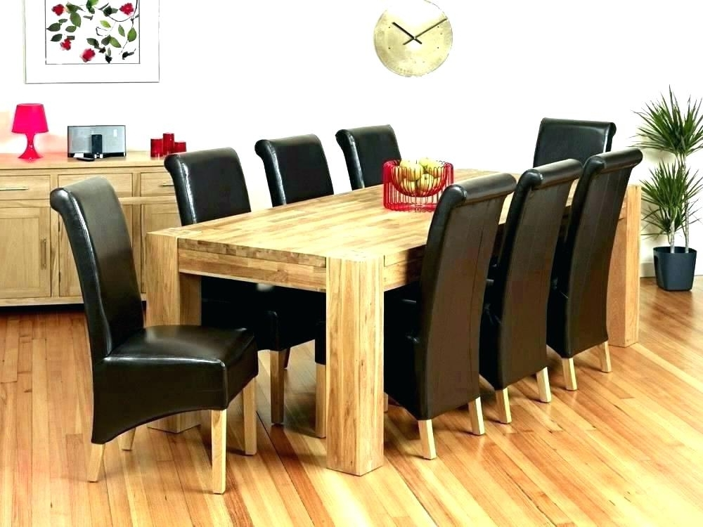 Round Dining Table And 8 Chairs Dining Tables 8 Seats Dining Table 8 With Regard To Fashionable Dining Tables Set For  (View 19 of 20)
