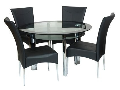 Round Dining Table And Chairs (Gallery 3 of 20)