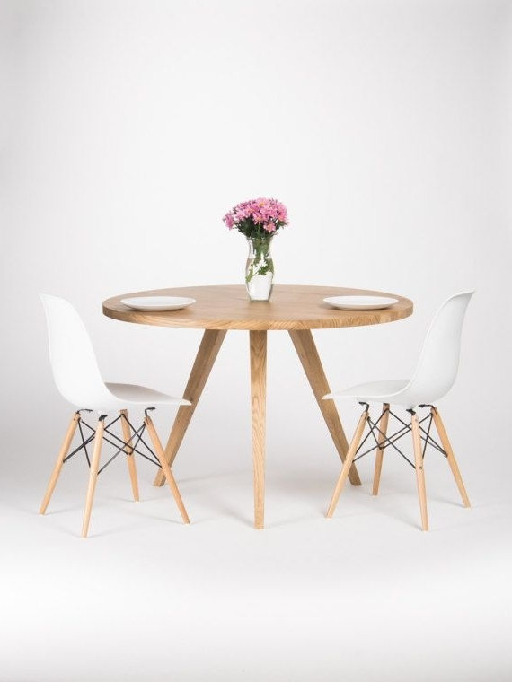 Round Dining Table, Large Kitchen Table, Made Of Solid Oak Wood, Ø With Regard To Latest Lassen Round Dining Tables (View 5 of 20)