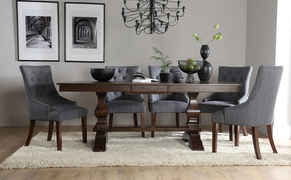 Round Dining Table With Upholstered Chairs (View 19 of 20)
