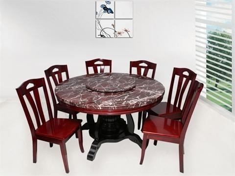 Round Dining Tables In Recent 6 Seater Round Dining Table Sets, भोजन कक्ष फर्नीचर (View 14 of 20)