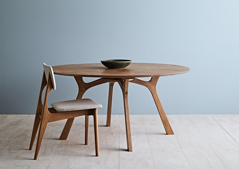 Round Dining Tables Pertaining To Recent Lyssna Round Dining Table – Tide Design – Handmade Furniture (Gallery 14 of 20)