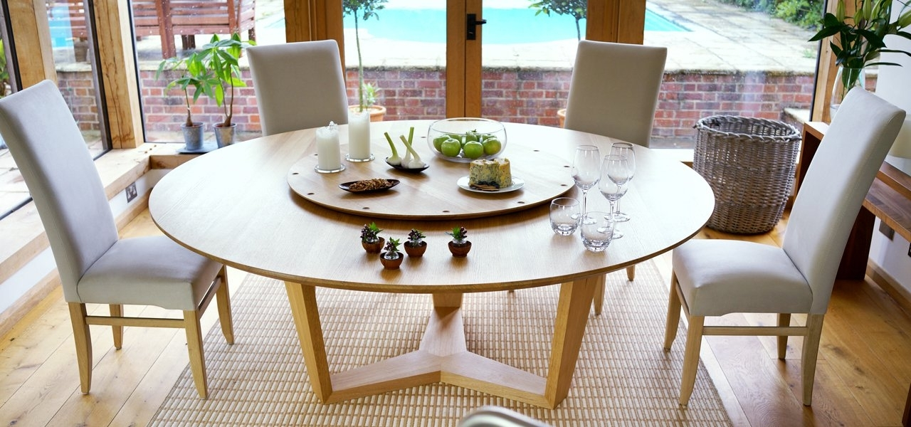 Round Extending Dining Tables Intended For Popular Huge Round Dining Tables (Gallery 3 of 20)