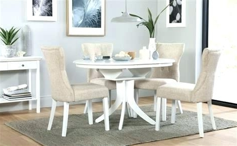 Round Extending Dining Tables Sets Inside Well Known White Round Extending Dining Table – Emilytocco (View 9 of 20)