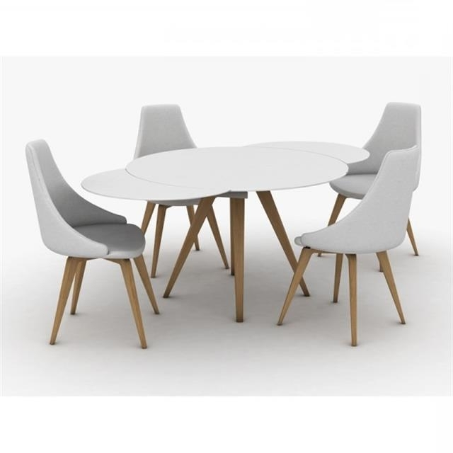 Round Extending Dining Tables Within Trendy Myles Circular Extending Dining Table (View 15 of 20)
