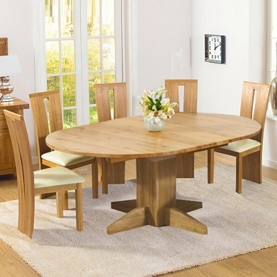 Round Extending Oak Dining Tables And Chairs In Best And Newest Extendable Round Dining Round Extending Oak Dining Table And Chairs (View 15 of 20)