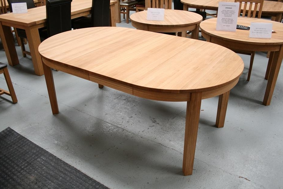 Round Extending Oak Dining Tables And Chairs Throughout Best And Newest Round Dining Table (View 6 of 20)