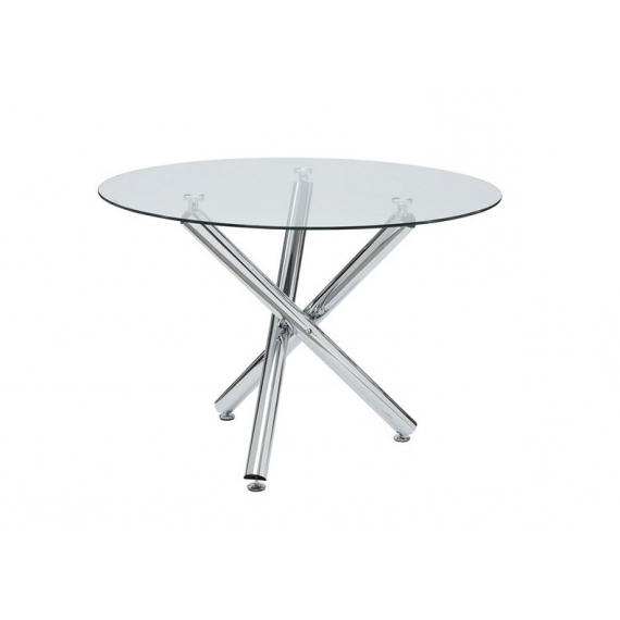 Round Glass Dining Table With Chrome Leg Within Most Current Chrome Glass Dining Tables (View 16 of 20)