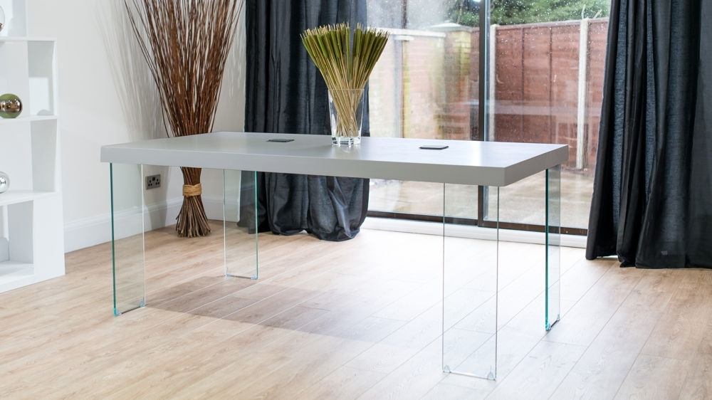 Round Glass Dining Tables With Oak Legs Pertaining To Widely Used Modern Grey Oak Dining Table (View 6 of 20)