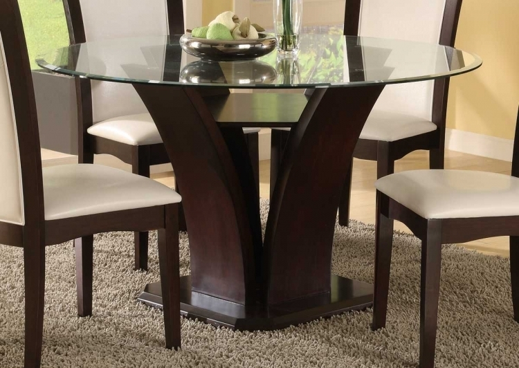 Round Oak And Glass Dining Table 19 Elegant Glass Top Round Dining Intended For Favorite Oak And Glass Dining Tables And Chairs (View 14 of 20)