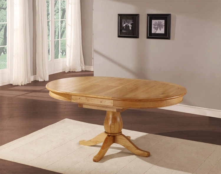 Round Oak Extendable Dining Tables And Chairs Intended For Current Glamorous Round Dining Table Extends To Round Dining Table Extends (View 17 of 20)
