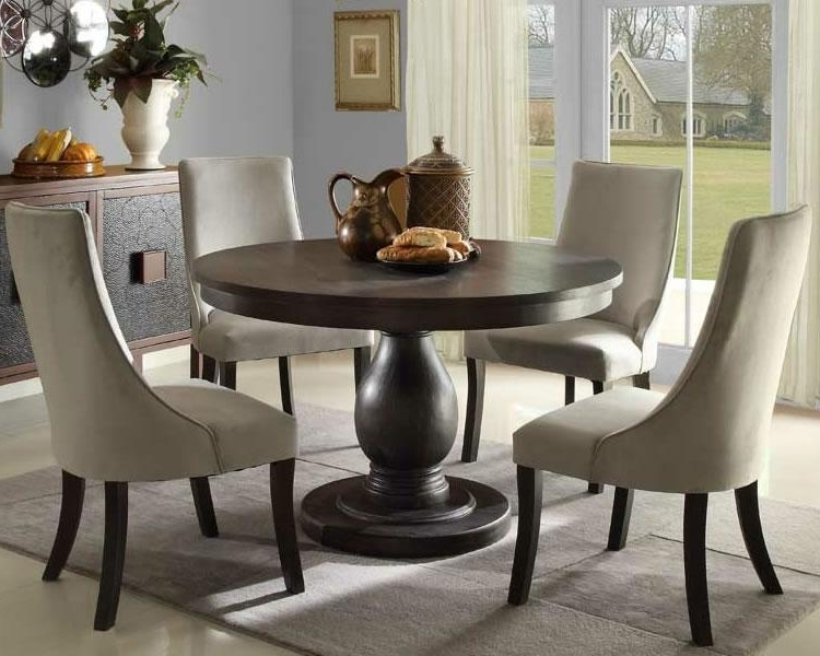 Round Pedestal Dining Table – Ideas, Inspiration – Rilane For Most Current Circle Dining Tables (View 17 of 20)