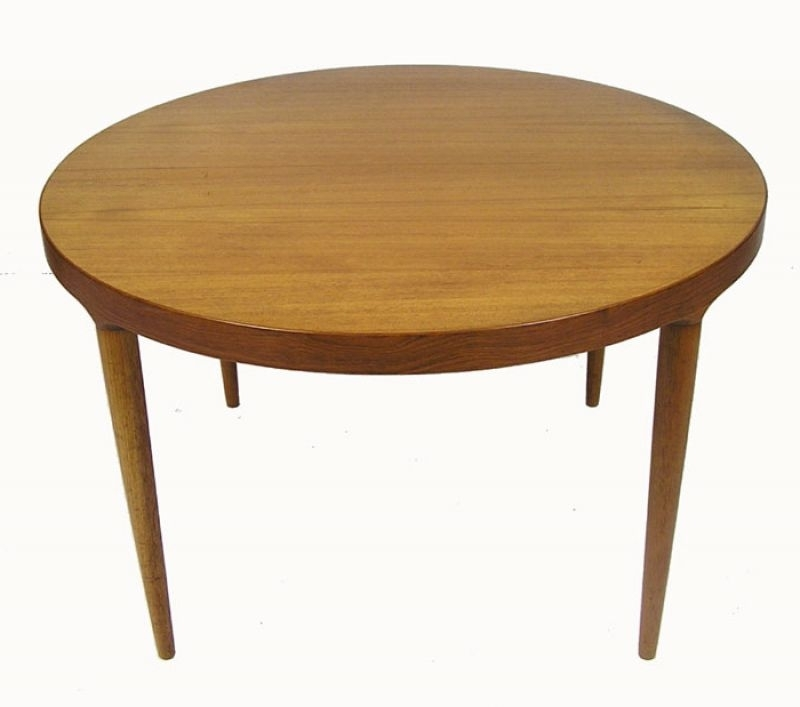 Round Teak Dining Tables For Widely Used 1960S Round Teak Dining Table W/extension *denmark* – Hoopers Modern (View 13 of 20)