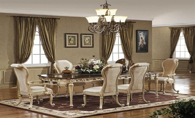 Royal Style Dining Table With Chairs Designs At Home Design With Regard To Popular Royal Dining Tables (View 11 of 20)