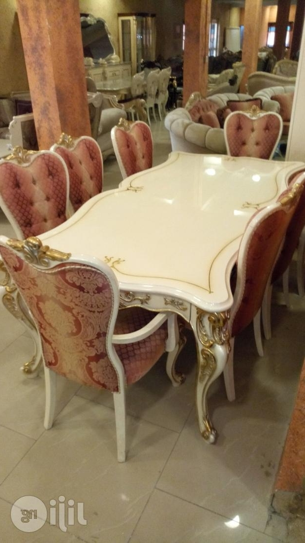 Royal Wooden Dining Table With 8 Chairs For Sale In Victoria Island Pertaining To Favorite Royal Dining Tables (View 12 of 20)