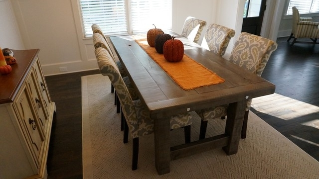 Rustic Dining Tables For Most Recent Rustic Slate Gray  The Clayton Rustic Farm Dining Table – Rustic (Gallery 6 of 20)