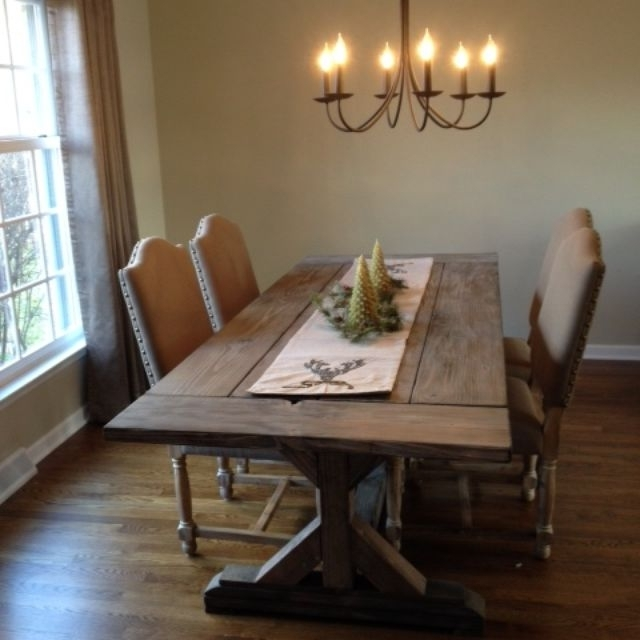 Rustic Dining Tables In Most Up To Date Buy A Hand Crafted Fancy X Farmhouse Table With Extensions (Gallery 3 of 20)