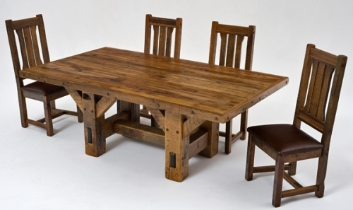 Rustic Dining Tables Throughout 2017 Refined Rustic Dining Table #4 – Urdezign Lugar (View 18 of 20)