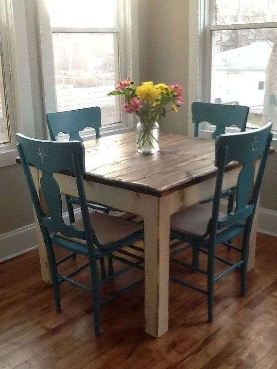 Rustic Farmhouse Table Small Kitchen Dining Farm House Reclaimed With Regard To Well Known Dark Wood Square Dining Tables (View 19 of 20)