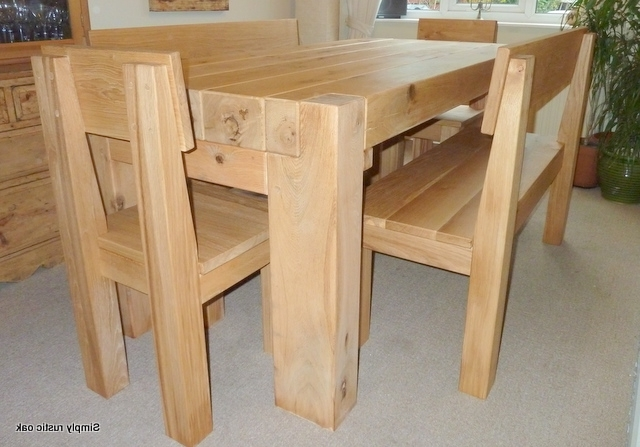 Rustic Green Oak Beam Contemporary Dining Table – Simply Rustic Oak In Famous Rustic Oak Dining Tables (Gallery 13 of 20)