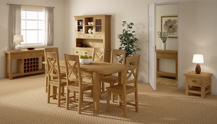 Rustic Oak Dining Furniture Intended For Rustic Oak Dining Tables (View 13 of 20)