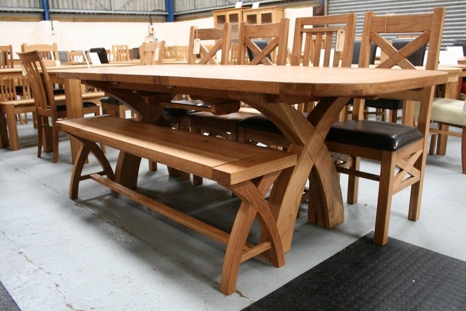 Rustic Oak Dining Table Furniture – Oak Regarding 8 Seater Oak Dining Tables (View 16 of 20)